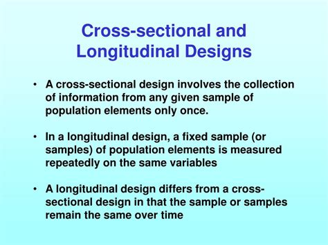 disadvantages of cross sectional design ppt figure 3 1relationship to the previous chapter and