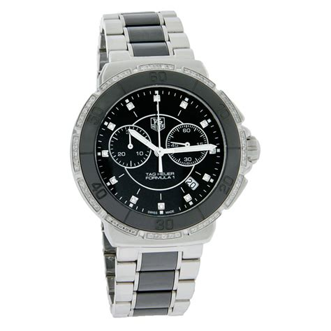 tag heuer ladies formula 1 watch tag heuer formula 1 ladies ceramic diamond chronograph