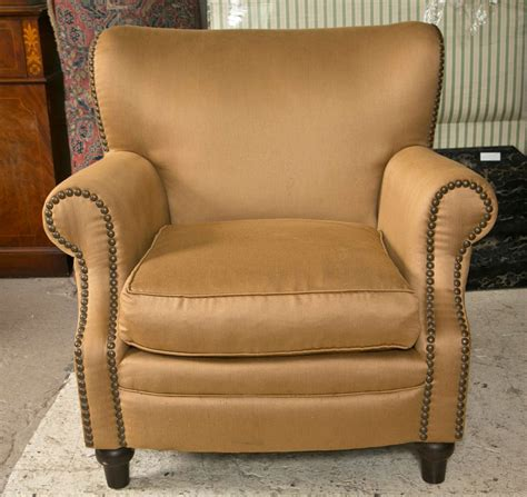 overstuffed armchair pair of overstuffed oversized arm lounge chairs at 1stdibs
