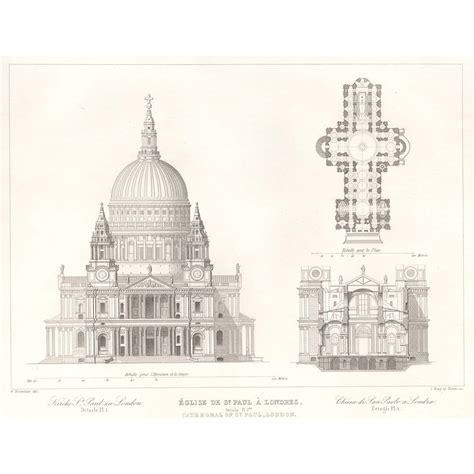Home Interior Design Glasgow st paul s cathedral london front elevation section and