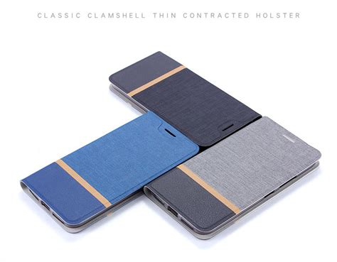 Nubia M2 Lite Ory Flip Soft Casing Cover Leather contrasting flip leather protective with stand function for nubia v18 n1 n2 n3 m2 m2 lite