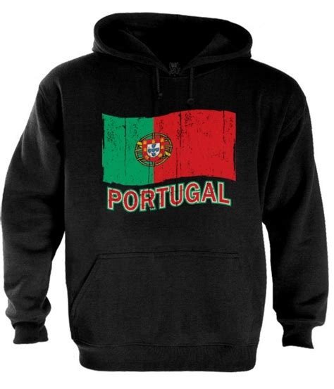 Kaos Pride Graphic 6 portugal flag hoodie distressed vintage logo soccer
