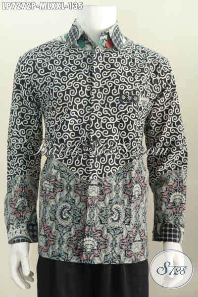 Kemeja Batik Kawung Grompol Printing Lengan Panjang jual kemeja batik lengan panjang modis dan elegan pakaian batik motif kombinasi proses