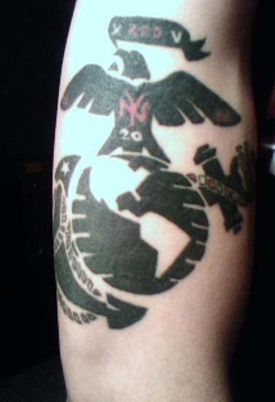tribal marine corps tattoos new york usmc tattoomagz