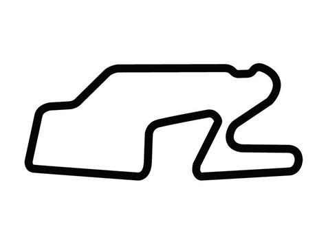 Track Outline by Watkins Glen International Track Decal Sticker Outline Vinyl Race Track Ebay