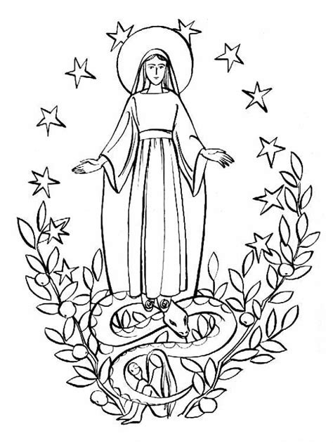 Immmacolata Concezione Our Of Guadalupe Coloring Page