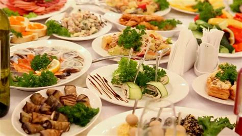 table ads for restaurants a great number of delicious food is already set up in the
