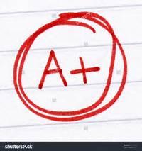 Stock Photo A Grade Written On Test Paper 36151003jpg