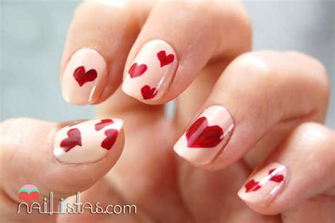 imagenes de uñas decoradas para san valentin u 241 as decoradas para ni 241 as sencillas