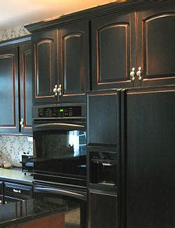 black distressed kitchen cabinets black kitchen cabinets fabulously finished