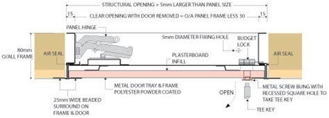 typical concealed flush ceiling extractor by air uno concealed plasterboard door access panel jakdor