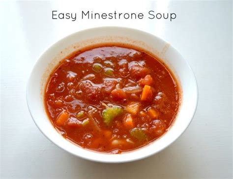 easy minestrone soup recipes to try pinterest