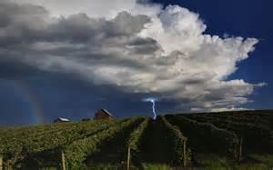 paisajes campos tormenta cielo rayo lluvia nubes cielos