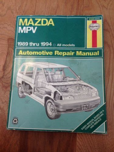 1989 1990 1991 1992 1993 1994 mazda mpv haynes repair manual 61020 2047 books for sale