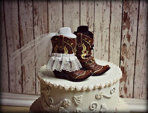 Cowboy Boots Cake Decorations by Cowboy Boots Wedding Cake Topper Western By Morganthecreator