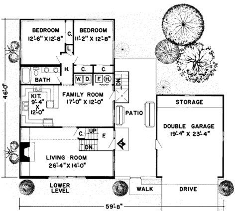 house plan 1761 square feet 57 ft cabin style house plan 4 beds 2 baths 1761 sq ft plan