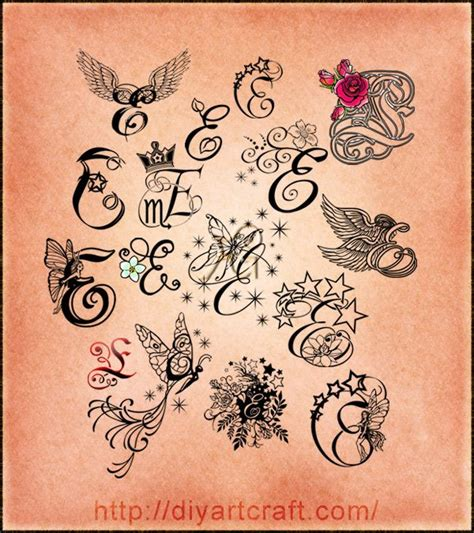 letter e tattoo designs 10 best letter e and c images on ideas