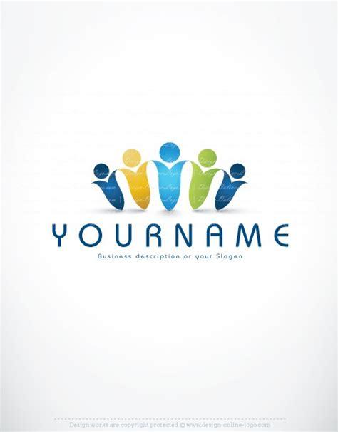 design logo group exclusive design 3d human group logo free business card
