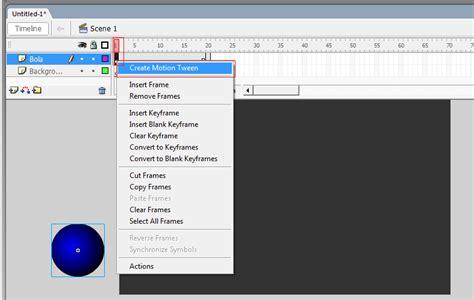 cara membuat gambar bergerak menggunakan macromedia flash 8 cara membuat animasi bola berjalan dengan menggunakan