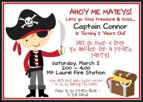 pirate invitation and black with boy by burleygirldesigns