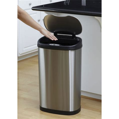 Unfinished Kitchen Cabinets Menards trash cans nine stars 13 2 gallon stainless steel