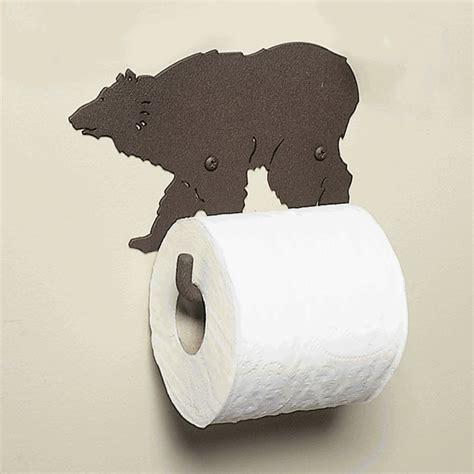 bear toilet paper holder metal grizzly bear toilet paper holder