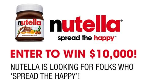 Happy Contest Win A Mimobot by S Nutella Spread The Happy Contest Sweepstakesbible
