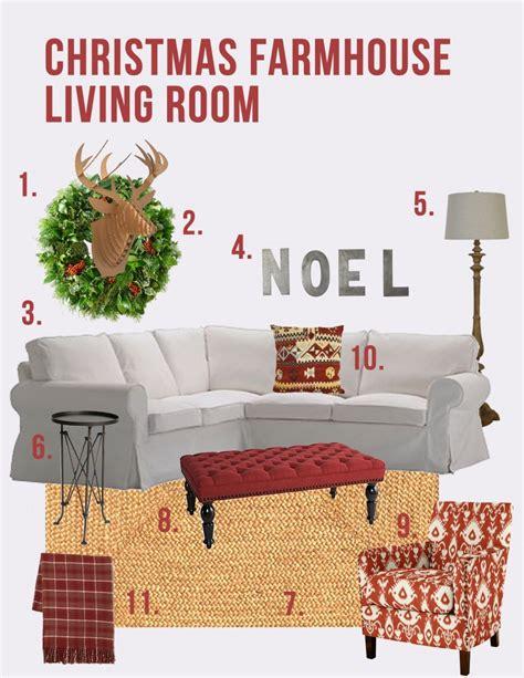 Stores Similar To Ballard Designs christmas farmhouse living room