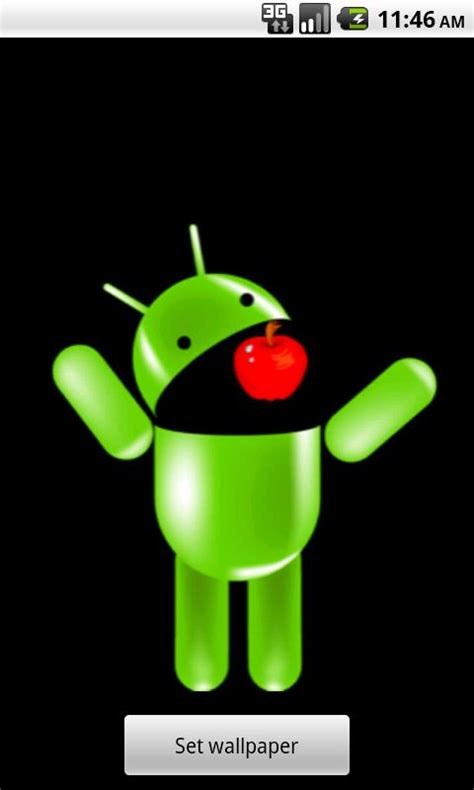 wallpaper apple eating android download the android eating apple wallpaper android apps