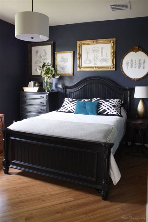 navy bedroom home office house mix