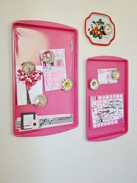 16 easy diy room decor 16 easy diy room decor ideas stick it magnets and baking sheet