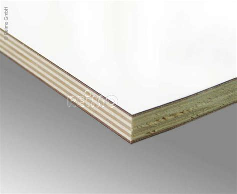 Holzplatte Weiß Beschichtet by M 246 Belbauplatte Hochglanz Wei 223 Hpl 52025 Reimo