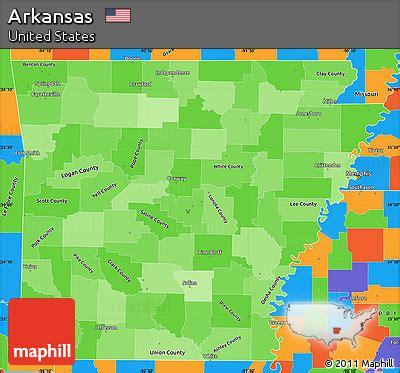 united states map arkansas free political shades simple map of arkansas political