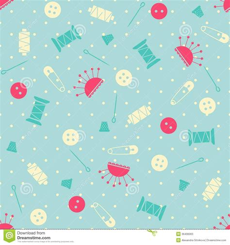 svg sewing pattern seamless vector sewing pattern stock photos image 36406063