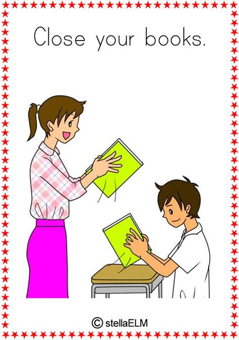 words and your books flashcards classroom actions