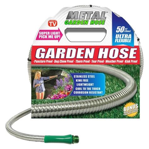 Seen On Tv as seen on tv 174 50 quot stainless steel metal garden hose target