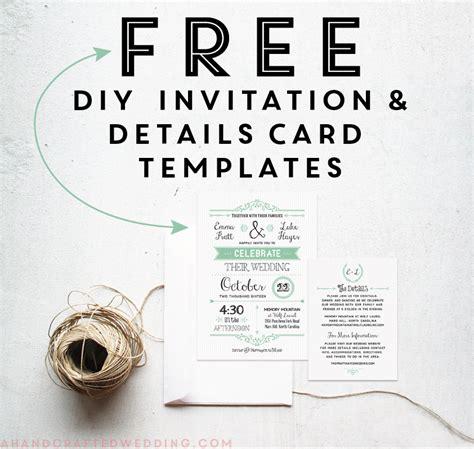 free printable wedding invitation template today s