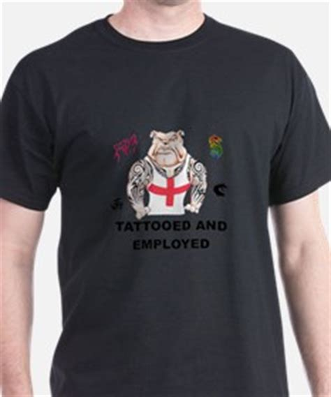 tattooed and employed hoodie bulldog gifts merchandise