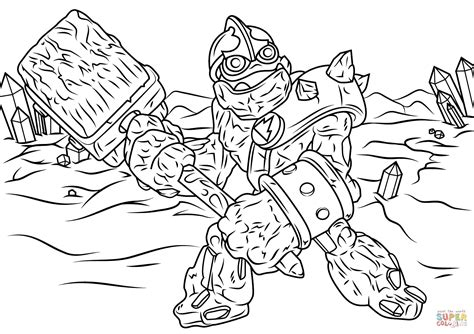 eye brawl skylander coloring page click the skylanders giants crusher coloring pages