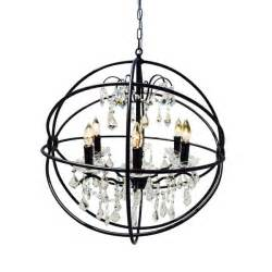 black wrought iron orb chandelier free shipping today