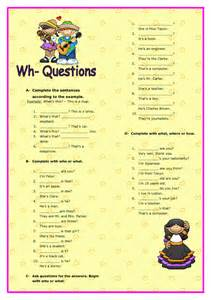 wh questions elementary worksheet