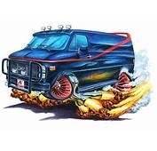 A Team GMC Van Muscle Car Cartoon Tshirt FREE  EBay