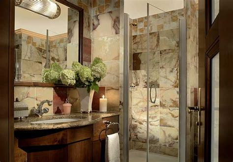 Elegant bathroom with marble decorating ideas