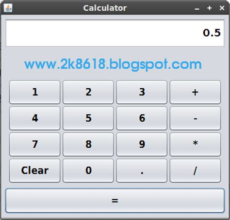 calculator program in java using swing calculator java swing netbeans internet web