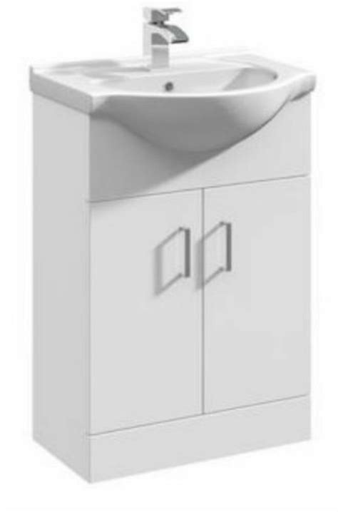 Bathroom Windsor 550mm White Gloss Vanity Unit Ceramic