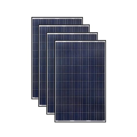 solar panels grape solar 265 watt polycrystalline solar panel 4 pack