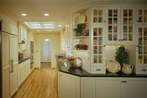 kitchen off white country style galley kitchen with
