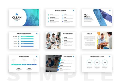 Clean Powerpoint Template Presentation Templates On Slideforest Product Presentation Template