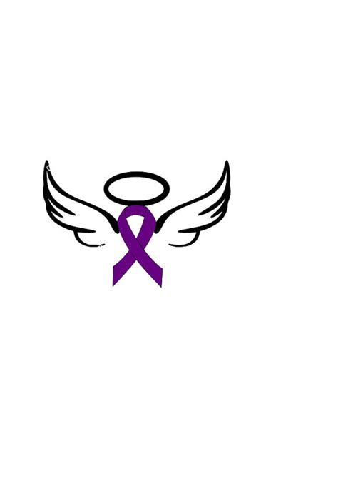 cancer ribbon with wings clipart amp cancer ribbon with
