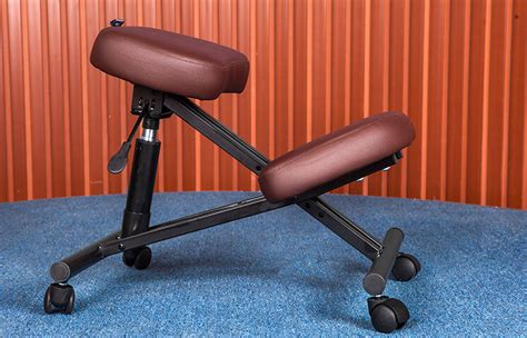 Kneeling Chairs Design Ideas Ergonomically Designed Knee Chair Leather 2 Color Coffee Black Office Kneeling Chair Ergonomic